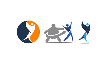 Fitness Solution Template Set for logos