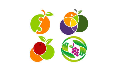 Fruit Mix Template Set for logos