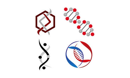 DNA Genetics Template Set for logos