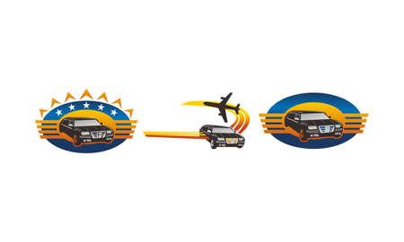 Car Plane Service Tour Travel Set