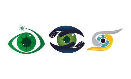Eye Care Template Set Stock Illustratie