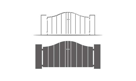 Gate Way Template Set isolated on plain background.