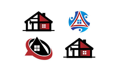 Real Estate logo icons Template Set Vector illustration.