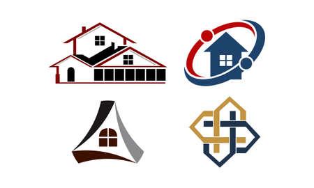 Real Estate logo icons Template Set Vector illustration.