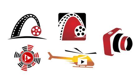 Movie Studio Template Set Illustration