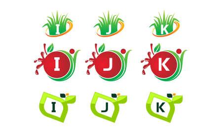 Logotype Leaf Template Set