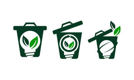 Waste Bag Solution Set Illustration