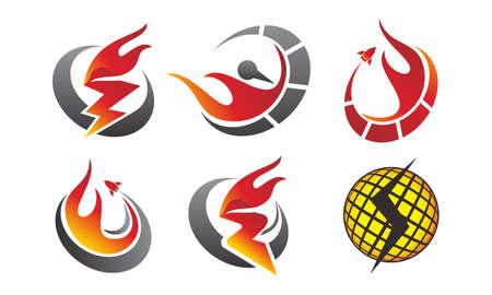 Fire Rapid Template Set Ilustrace