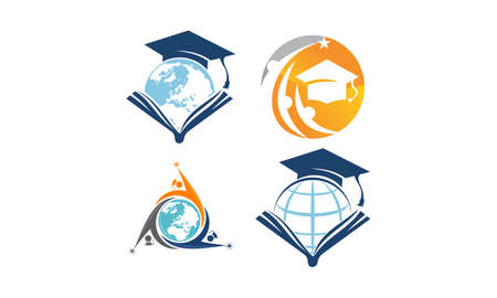 World Education Template Set Illustration