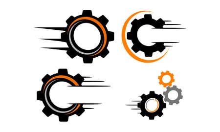 Speed Gear Template Set Vetores