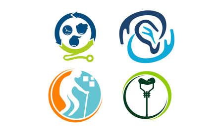 Health Care Template Set Illustration