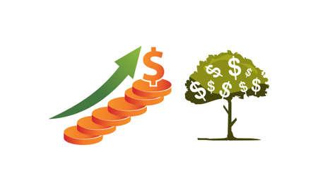 Money Investment Template Set Illustration