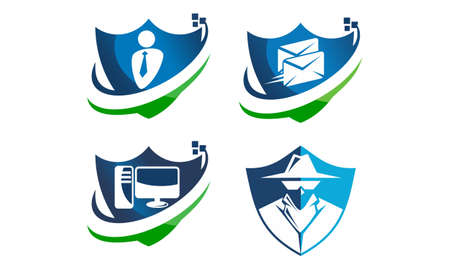 Global Security Shield Template Set