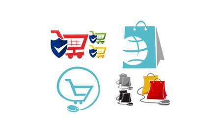 Discount Shopping Vector Set