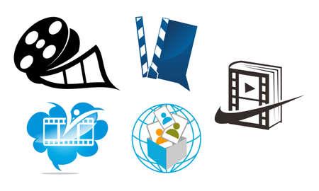 Movie Studio Template Set Stock Illustratie