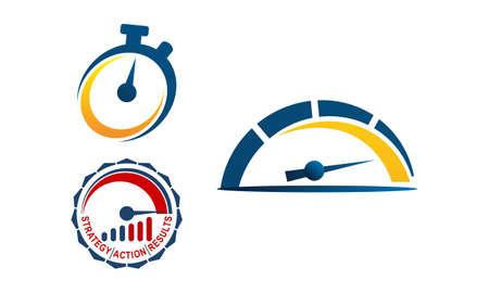 Gauge logo Template Set