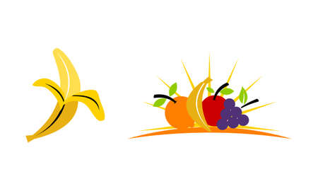 Fruits logo Template Set