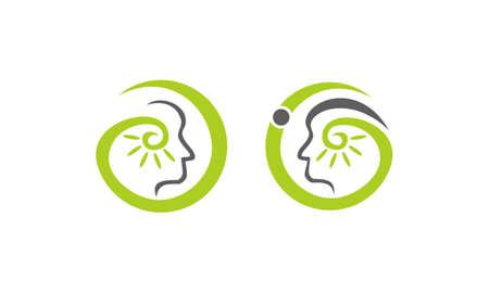 Hearing aid center audiology set. Illustration