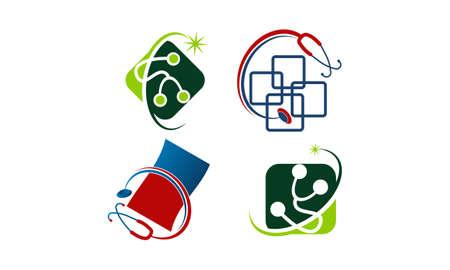 Medical app billing set. Illustration