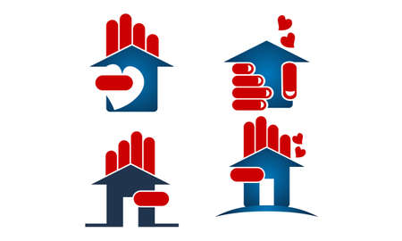 Home real estate icon set.