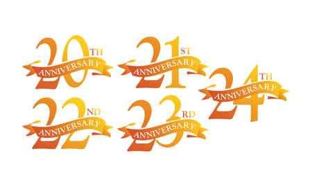 Ribbon Anniversary Template Set