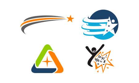 Ensemble de logo de thème Coaching de vie réussie