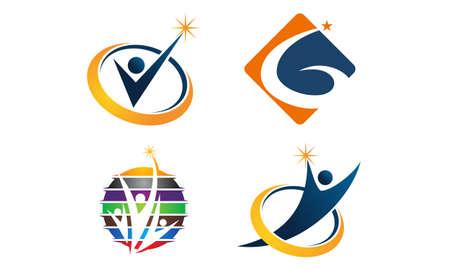 Success Life Coaching theme logo Set