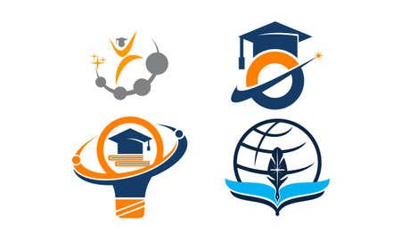 Career Coaching Education theme logo Set