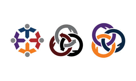 Synergy Solution Process theme logo Set