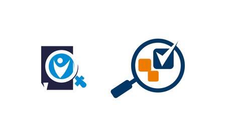 Searching Verify Document Set illustration. Illustration