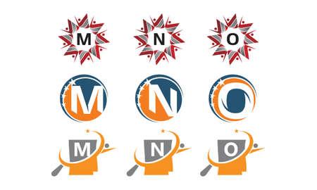 Success life coaching letter logo concept icon set.