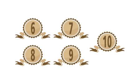 Best Quality Ribbon Number Set Illustration