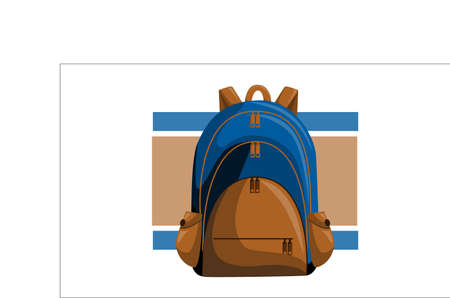 Blue Back pack to School