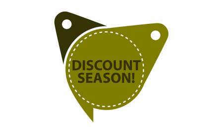 Discount Season Tag Template Isolated