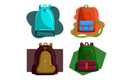 Bag Back to School Vector Set Illustration