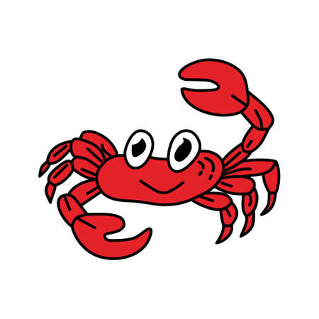 Crab Sea Design Graphic Template Vector Illustration