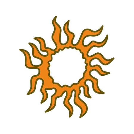 Sun Abstract Design Illustration Template Vector