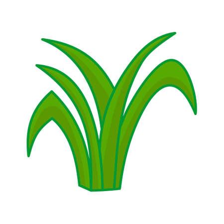 Vecteur de feuilles d'herbe illustration de dessin animé graphique de conception Vecteurs