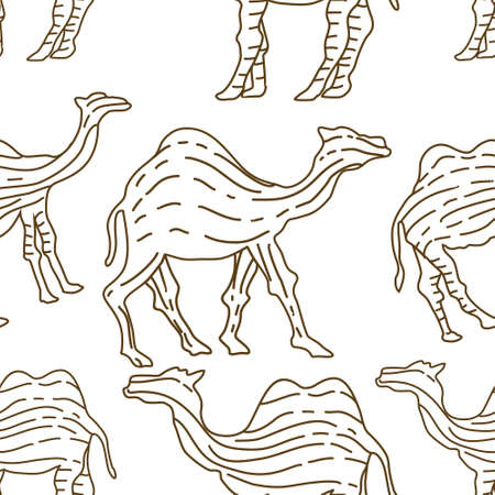 Camel pattern seamless design animal decoration