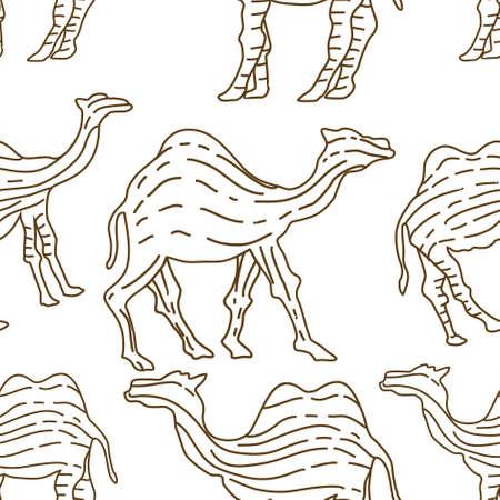 Camel pattern seamless design animal decoration