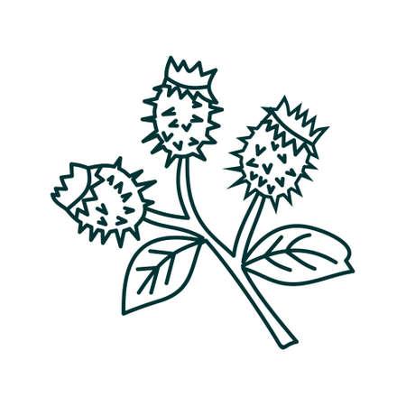 Flower Leaf Illustration Design Template Vector Imagens - 124372597