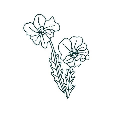 Flower Leaf Illustration Design Template Vector Imagens - 124372599