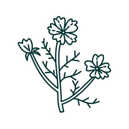 Flower Leaf Illustration Design Template Vector Imagens - 124372600