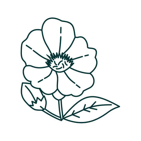 Flower Leaf Illustration Design Template Vector Imagens - 124372601