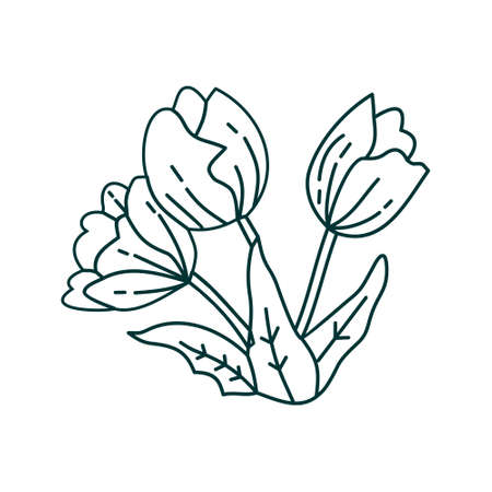 Flower Leaf Illustration Design Template Vector Imagens - 124372602