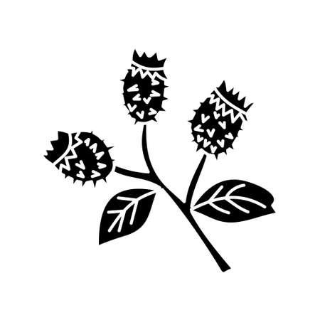 Flower Leaf Illustration Design Template Vector Imagens - 124372606