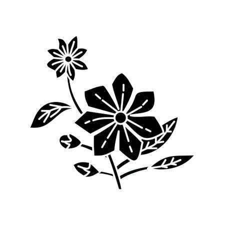 Flower Leaf Illustration Design Template Vector Imagens - 124372608