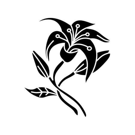 Flower Leaf Illustration Design Template Vector Imagens - 124372610
