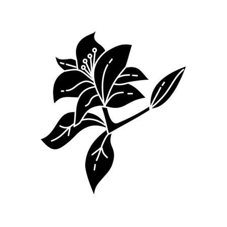 Flower Leaf Illustration Design Template Vector Imagens - 124372611