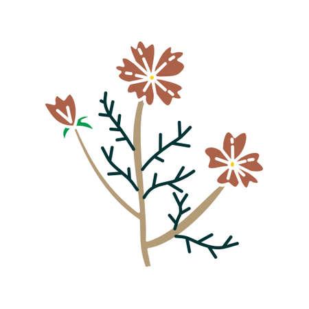 Flower Leaf Illustration Design Template Vector Imagens - 124372614